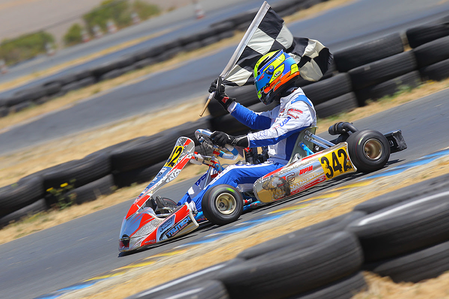 Jake Craig won the Senior Max title at the Rotax US Grand Nationals in Sonoma