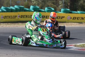 Melbourne's David Sera leads the way in the KZ2 standings entering the final round next weekend (Photo: Coopers Photography)