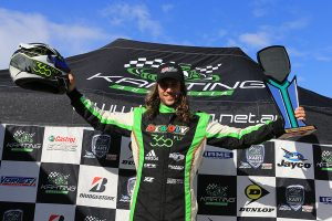 David Sera celebrating his 18th Australian Karting Championship (Pic: Coopers Photography)