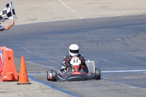 Alan Sciuto is back behind the wheel of a kart, driving to a sweep in the Open Shifter category (Photo: Kart Racer TV)