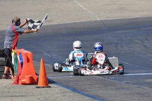 Carlee Taylor took her first checkered flag of the season in the X30 Pro division (Photo: Kart Racer TV)