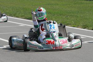 Lance Fenderson pulled off another solid performance in IAME Junior for his second straight (Photo: EKN)