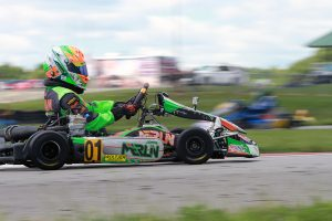 Brandon Lemke put a stamp on his championship with another win in IAME Pro (Photo: EKN)