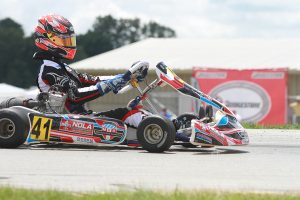 Braden Eves holds the advantage in both Yamaha and IAME Senior championships (Photo: EKN)