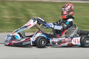 Braden Eves has gone perfect in Pro IAME Senior at New Castle with three victories (Photo: EKN)