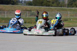 Colin Neal won his first in Yamaha Junior (Photo: EKN)