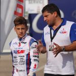 Dylan Tavella strolls the paddock as a member of Team USA at the Rotax Max Challenge Grand Finals in Italy last week, heads to  Las Vegas, Nevada for the final round of the US Open program (Photo: CKN)