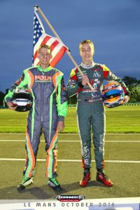 Maks Kowalski and David Malukas representing USA during the driver presentation Saturday evening (Photo: IAME International Final)