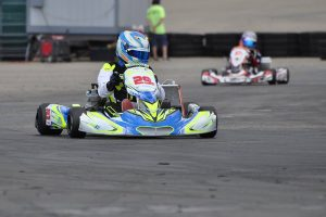 Austin Garrison made the trek from Florida to win the X30 Pro division (Photo: Kart Racer TV)