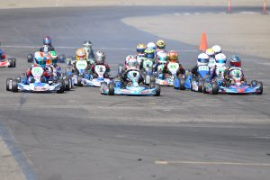 Jonathan Portz (#10) was named the winner in the competitive Mini Swift main event (Photo: Kart Racer TV)