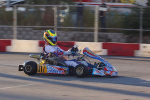 Cook steers her SwedeTech Racing Engines powered Energy Kart to a podium result at the US Open of Las Vegas (Photo: CKN)