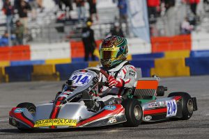 Dylan Tavella stands on the podium at the SKUSA SuperNationals  (Photo: www.OTP.ca)