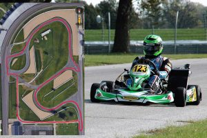 IndyCar driver Conor Daly among those in attendance for a karting test inside the Indianapolis Motor Speedway (Photo: TB Kart Indy)