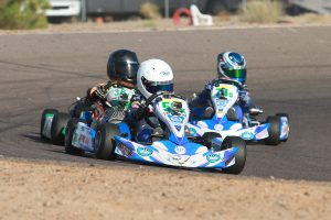Diego LaRoque leads Kyle Thome and Tyler Maxson in a tight championship battle (Photo: EKN)