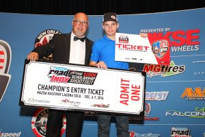 Austin Garrison took home a ticket to the 2017 RMCGF and the Mazda Road to Indy $200K USF2000 Shootout