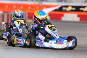 Diego LaRoque finished second on track but ended the series the Micro MAX class champion