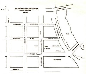 Original layout at the Elkhart street race