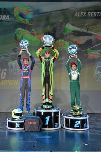 Alex Bertagnoli scored the second straight SKUSA Junior title for the Merlin Chassis (Photo: On Track Promotions - otp.ca)