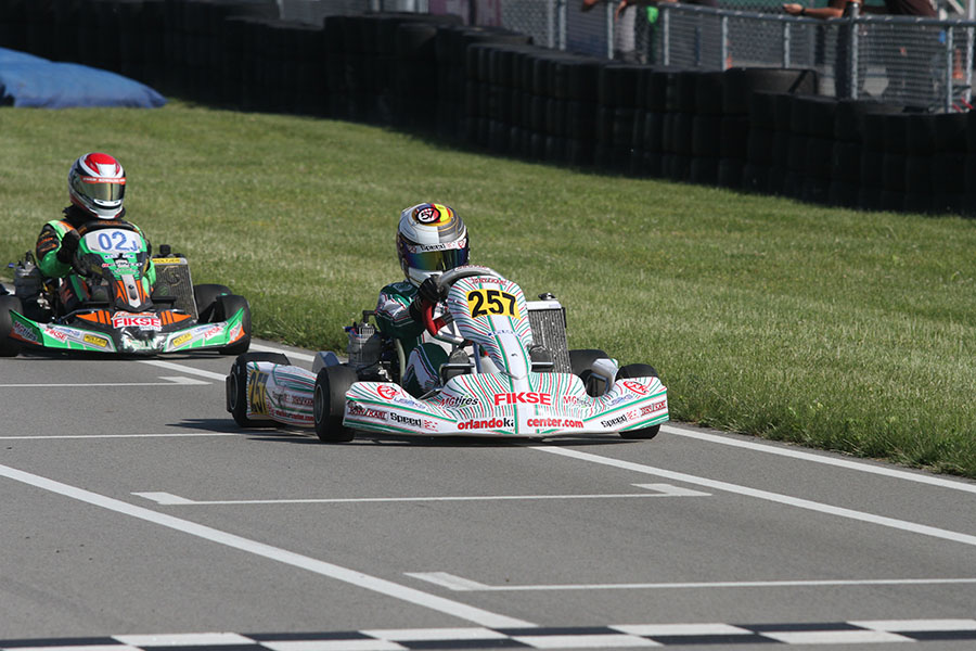 A sweep on Saturday for Tyler Gonzalez in the IAME Junior class (Photo: EKN)