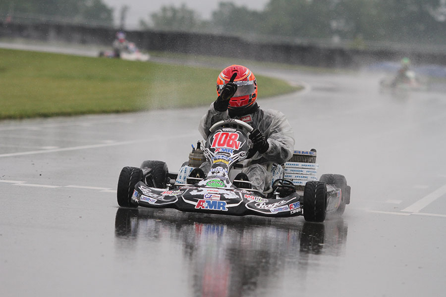 Brandon Jarsocrak went from last to first in a wild IAME Pro main event (Photo: EKN)