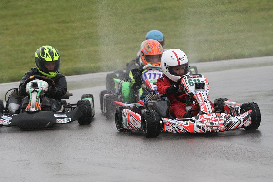 Brent Crews won a wild one in IAME Mini Swift, earning an entry to the IAME International Final in LeMans, France (Photo: EKN)