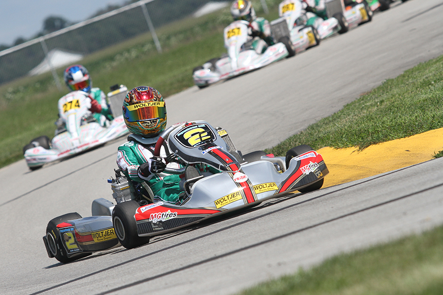 Dylan Tavella swept the day in IAME Junior (Photo: EKN)