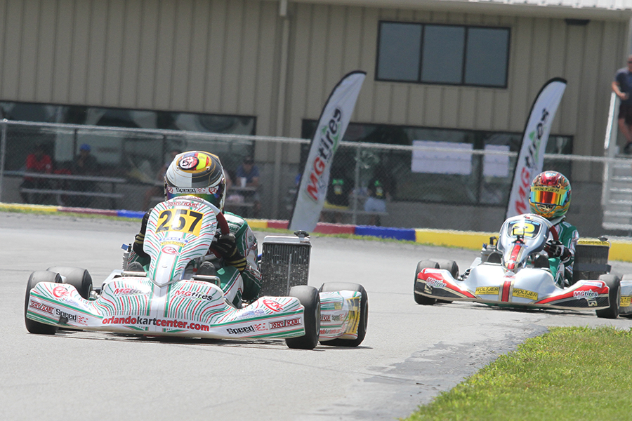 Tyler Gonzalez outran the IAME Junior field for his second victory of the year (Photo: EKN)
