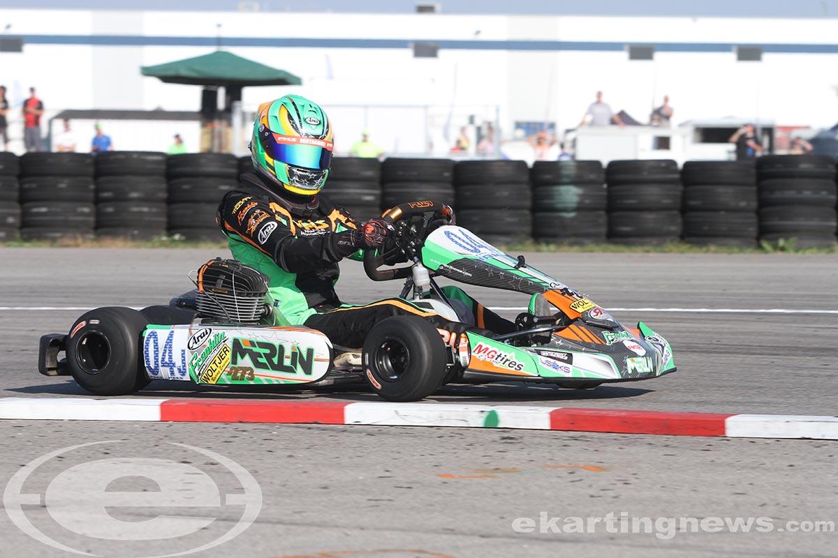 Alex Bertagnoli dominated the day in KA100 (Photo: EKN)