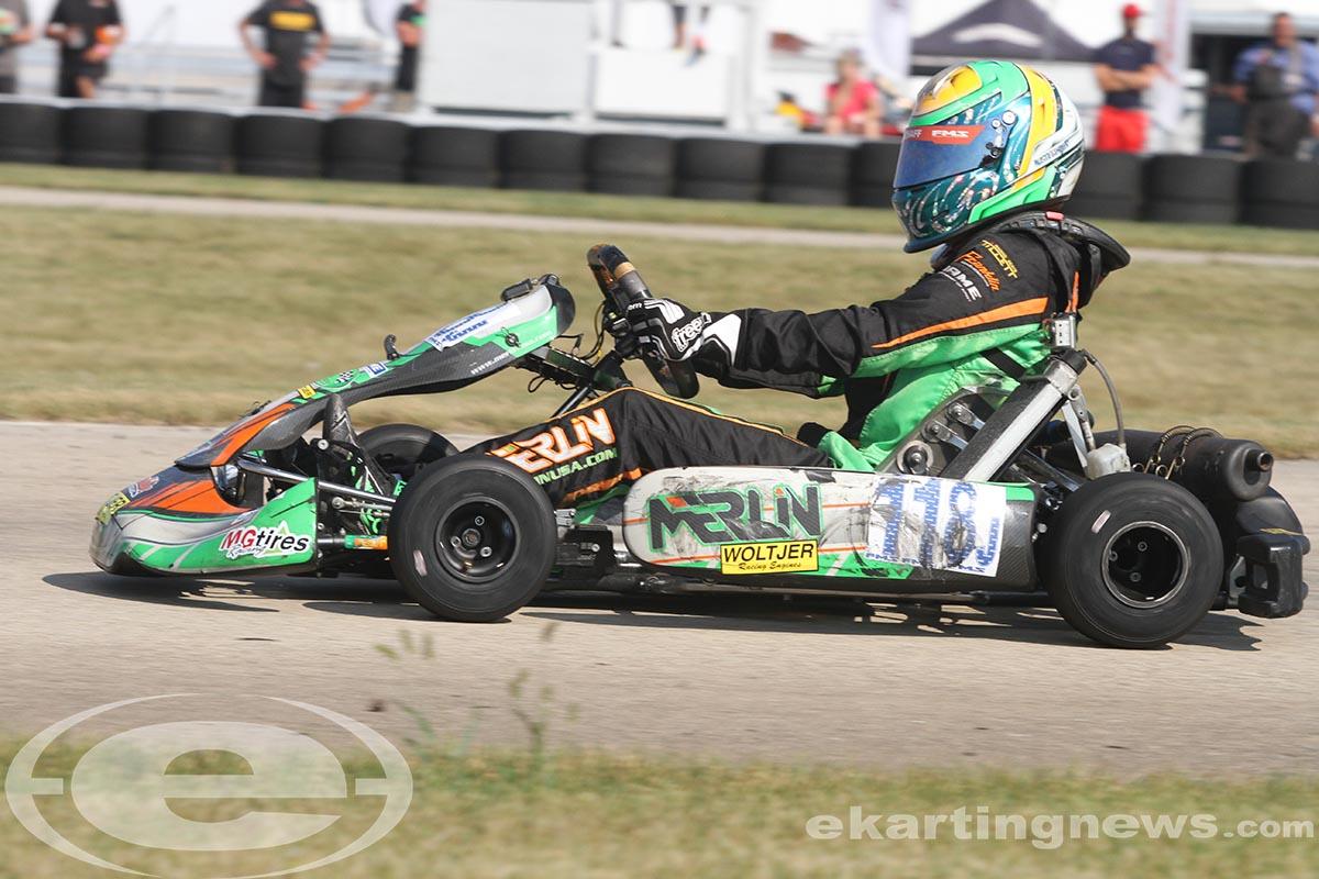 Austin Schaff swept the day in IAME Junior (Photo: EKN)