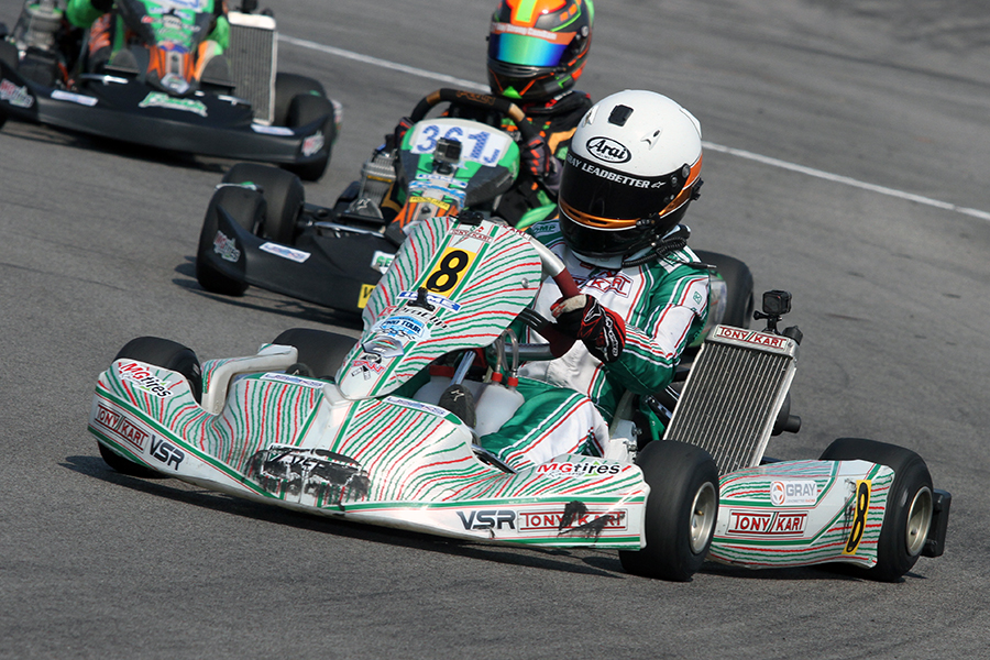 Gray Leadbetter became the third different female racer to win at the USPKS (Photo: EKN)