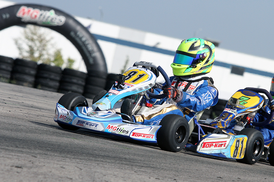 Zach Collins won his first USPKS main event in Yamaha Cadet (Photo: EKN)