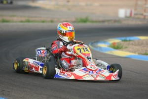 Nicholas Brueckner nearly drove to top-10 finish at the PKRA facility, coming from the tail of the Junior Max field (Photo: SeanBuur.com)