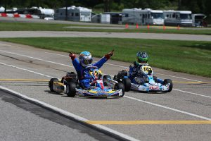 Logan Adams earned his first series victory in the Yamaha Cadet class on Sunday (Photo: Kathy Churchill - Route66SprintSeries.com)