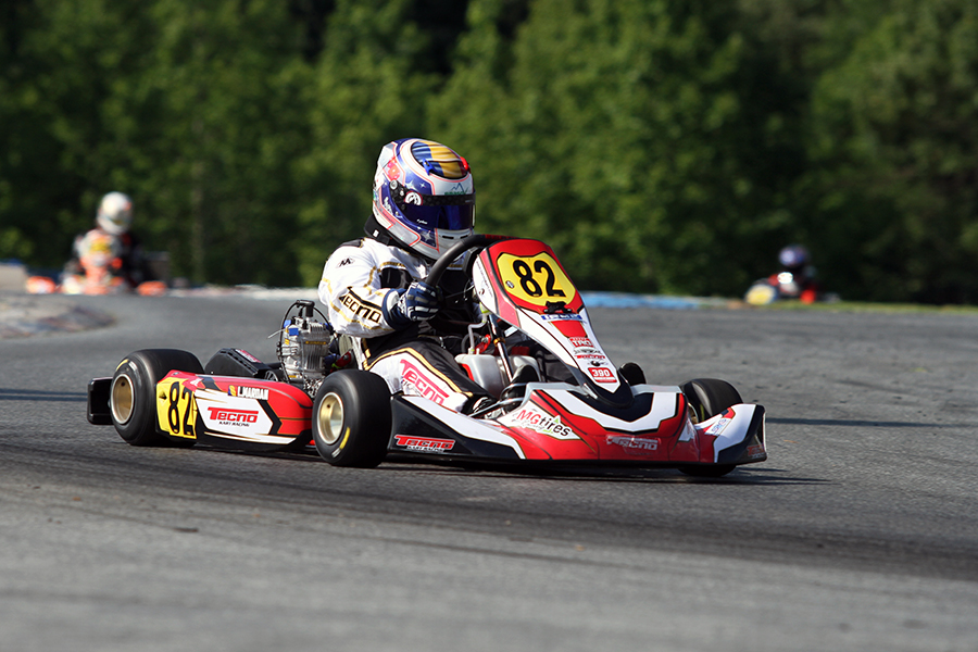 Laurentiu Mardan walked away from the field to give his Tecno USA its first victory in IAME Masters (Photo: EKN)