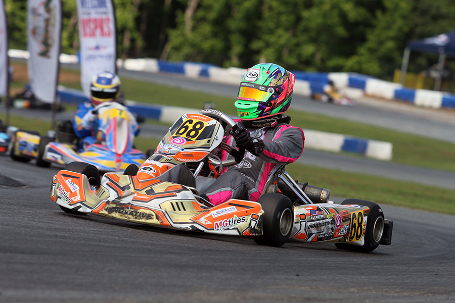 TJ Koyen put in one of his best performances of his career to earn his first USPKS victory in KA100 Senior (Photo: EKN)