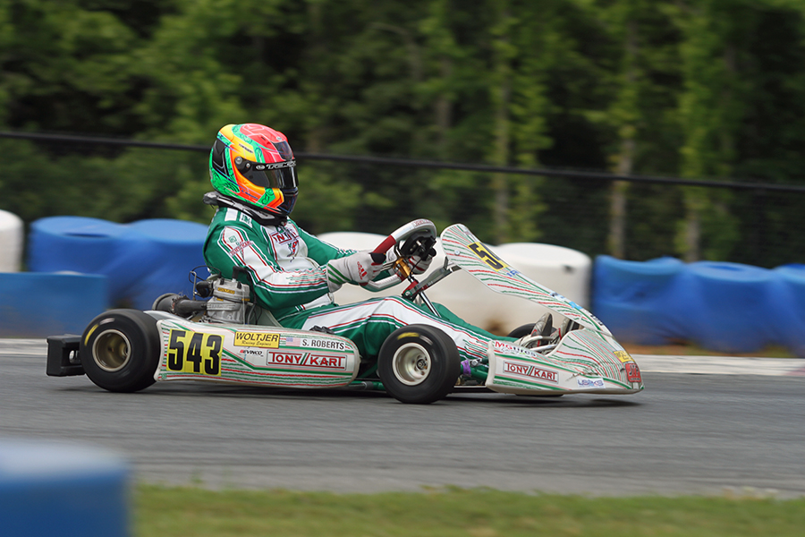 Scott Roberts dominated the Final in IAME Masters for his first series triumph (Photo: EKN)