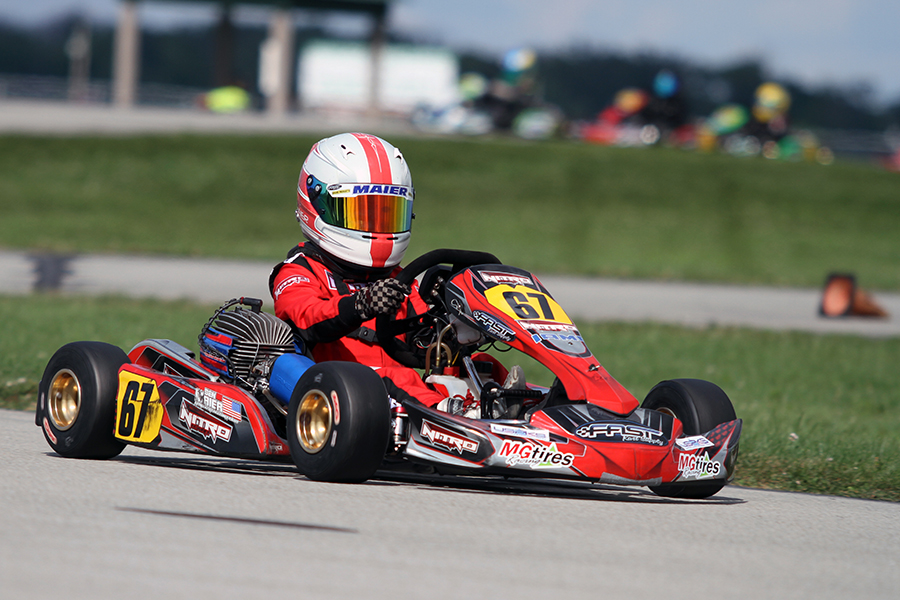 Ben Maier locked up the Micro Swift title with a third victory on the season (Photo: EKN)