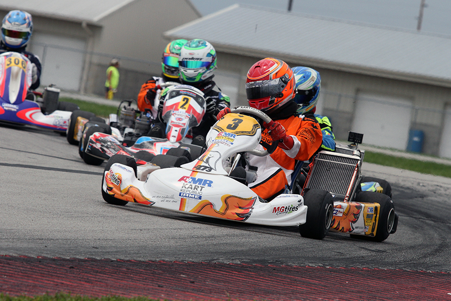 Brandon Jarsocrak scored his fourth straight victory in IAME Pro to lock up the second straight title (Photo: EKN)