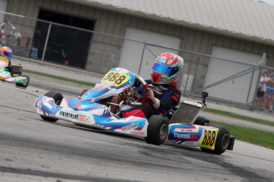 Luca Mars scored the victory in IAME Junior (Photo: EKN)