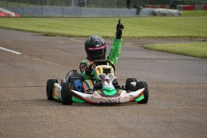 Ava Dobson conquered the wet track to score her first victory of the season in Mini Swift (Photo: Alissa Grim)