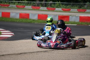 Josh Carlson drove to victory in the KA100 Junior class on Sunday (Photo: Alissa Grim)