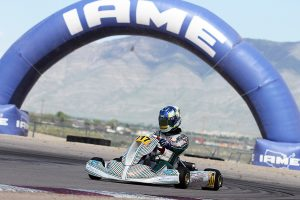 Blake Hunt leads the KA100 Senior title chase heading to his home track (Photo: EKN)