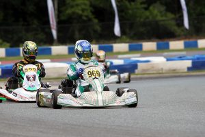 A last lap move secured the first series victory for Blake Hunt in KA100 Senior (Photo: EKN)
