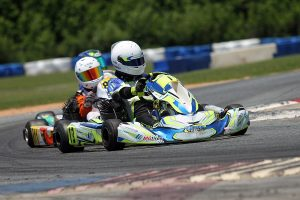 Westin Workman came out on top in a last lap battle for his first victory in KA100 Junior (Photo: EKN)