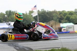 Stephen Dial led only the final lap to secure his first USPKS victory in KA100 Senior (Photo: EKN)