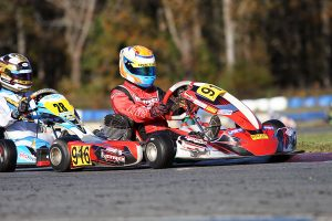 Five different winners in five rounds for KA100 Senior with rookie Hayden Jones picking up his first (Photo: EKN)