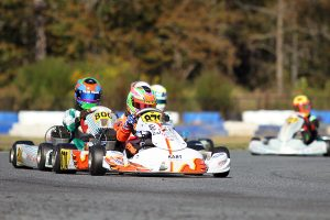 Christian Miles was promoted to the top of the podium in KA100 Junior for his first victory in the class (Photo: EKN)