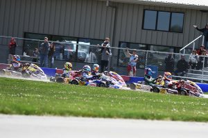 A wild last lapin X30 Junior saw Ayden Ingratta (#705) go to second in the final corner, passing four drivers and then moved to top of the podium after a penalty to Jack Jeffers (#733)