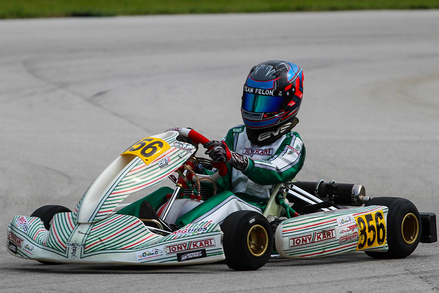 Jeremy Fletcher won his first of the year in KA100 Junior (Photo: AG Digital Content)