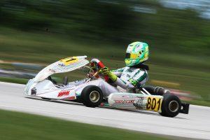 Carson Morgan won twice on the day, winning in KA100 Junior (Photo: EKN)